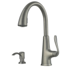Pfister's Pasadena Slate finish faucet, model F-529-PDSL, is available exclusively at Home Depot stores and HomeDepot.com. (Photo: GE)