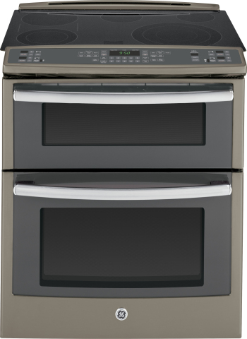 GE's 2014 Slate expansion includes GE's slide-in gas and electric range models PS950EEFES (pictured) JGS750EEFES and JS750EFES which will be available in August. (Photo: GE)