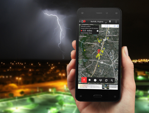 WeatherBug launches its popular app with Spark™ lightning alerts on Amazon's new Fire phone. (Photo: ...