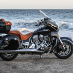 The 2015 Indian Roadmaster - the epitome of luxury motorcycle touring. Starting at $26,999. Shown in Thunder Black. (Photo: Indian Motorcycle)