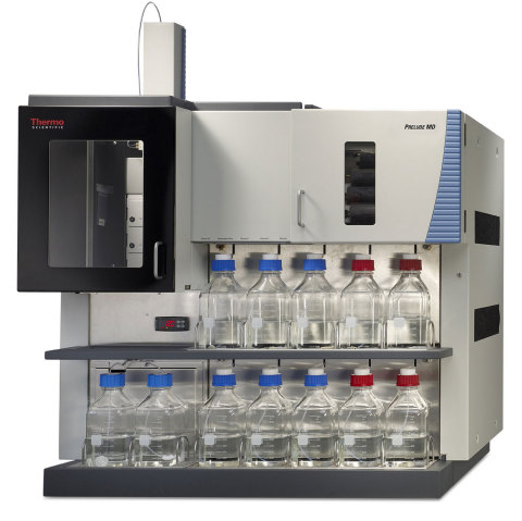 The Thermo Scientific Prelude MD HPLC instrument and the Thermo Scientific Endura MD mass spectromet ...