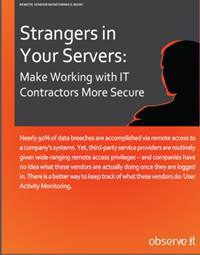 """ObserveIT eBook """"Strangers in Your Servers"""" (Photo: Business Wire)"""