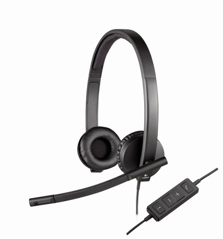 The new Logitech USB Headset H570e delivers enterprise-quality audio and premium features for business. (Photo: Business Wire)