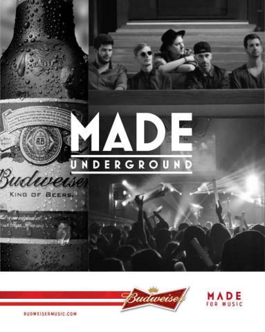 Budweiser MADE Underground (Graphic: Business Wire)
