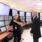 As part of his tour at NuScale, Governor Kitzhaber visits NuScale's Control Room Simulator. NuScale is using the simulator for engineering evaluations and human factors analysis. (Photo: Business Wire)