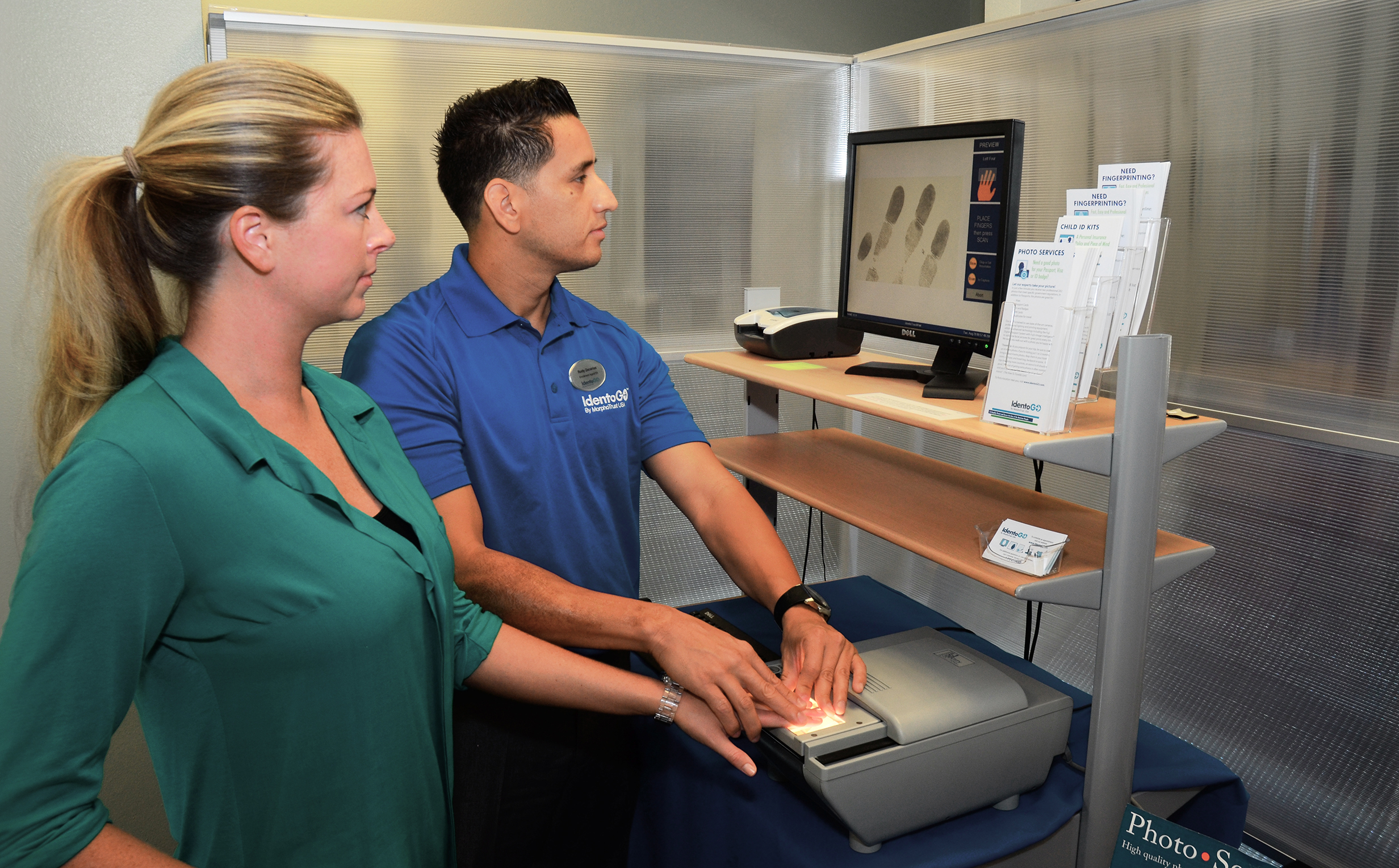IdentoGO® Centers by MorphoTrust provide the enrollment services for HTAP (Photo: Business Wire)