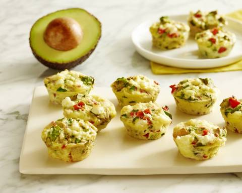 Egg-straordinary California Avocado Breakfast Muffins created by Bonnie Taub-Dix for the California Avocado Commission (Photo: Business Wire)
