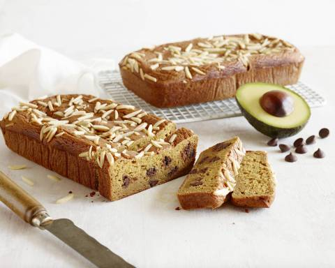California Avocado Pumpkin Bread with Dark Chocolate Chips and Almonds created by Bonnie Taub-Dix for the California Avocado Commission (Photo: Business Wire)