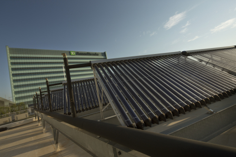 Solar panels on TD Ameritrade's LEED Platinum certified headquarters. Photo courtesy of Bob Ervin Photography.