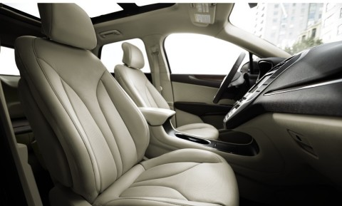 Bridge of Weir Deepsoft leather is available on the all-new 2015 Lincoln MKC. (Photo: Business Wire)
