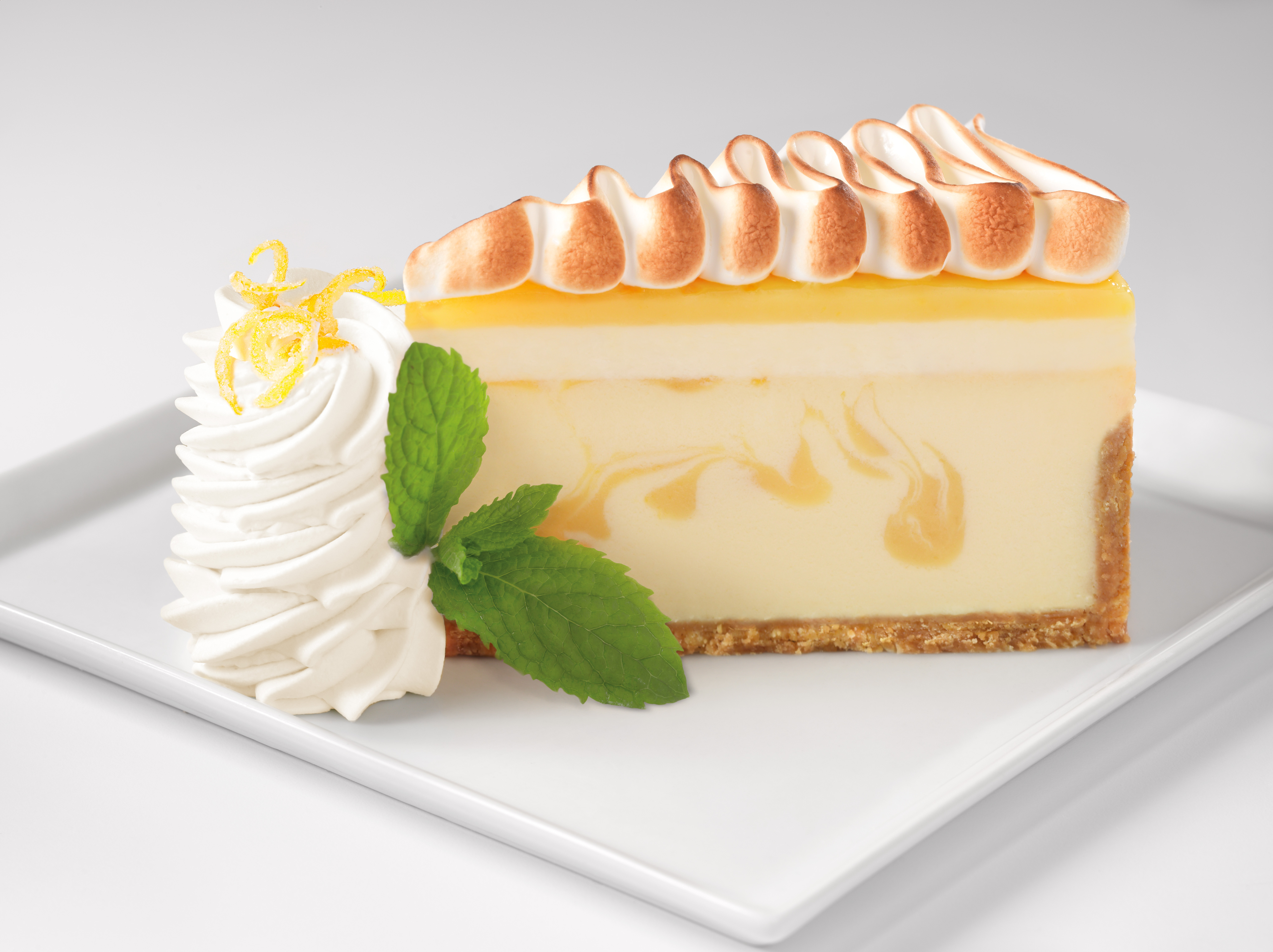 The Cheesecake Factory introduces its newest cheesecake flavor Lemon Meringue Cheesecake. (Photo: Business Wire)