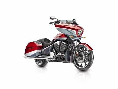Victory Motorcycles is adding to its Bagger lineup in 2105 with the new Victory Magnum. (Photo: Polaris Industries)