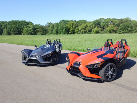 Polaris launched the all new, revolutionary 3-wheel motorcycle, Slingshot, on July 27, 2014. (Photo: ...