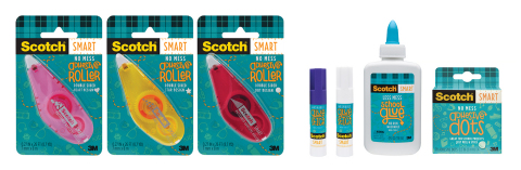 New line of Scotch SMART products designed for creative classroom activities and school projects. (Photo: Scotch Brand)