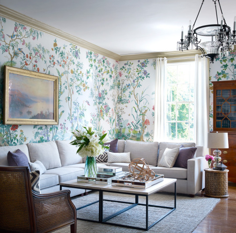 Gracie Mansion Living Room with West Elm furniture (Photo: Business Wire)