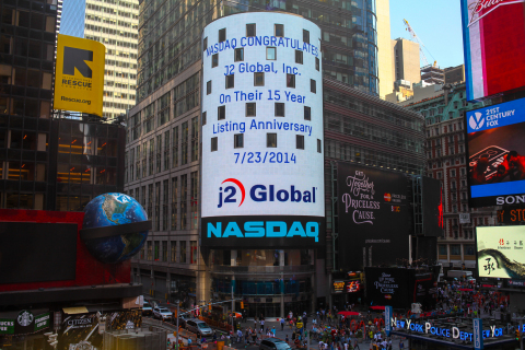 j2 Global Celebrates 15th Anniversary of Initial Public Offering. (Photo: Business Wire)
