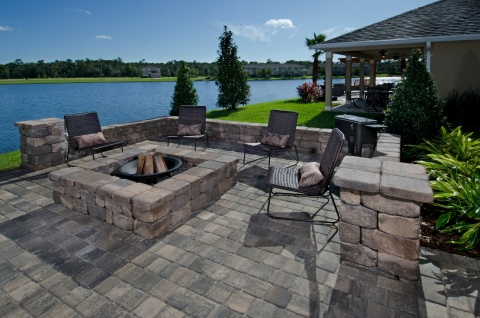A beautiful backyard from KB Home in Jacksonville, Fla. (Photo: Business Wire)