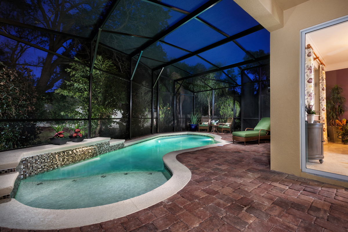 Outdoor living space modeled at KB Home's The Cove at Bay Pines community in St. Petersburg, Fla. (Photo: Business Wire)