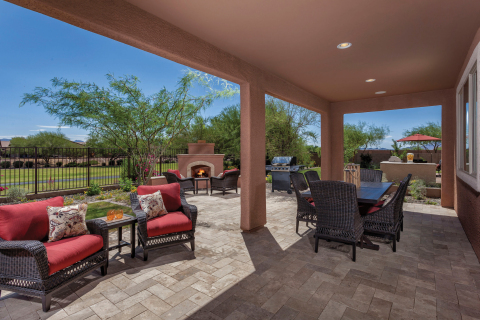 KB homeowners can soak up the sun in an outdoor space like this one from the builder's Somerset at Gladden Farms community in Marana near Tucson, Arizona. (Photo: Business Wire)