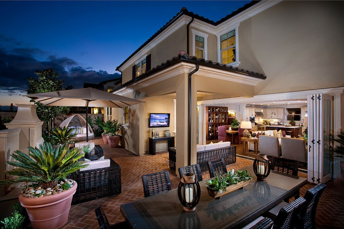 A gorgeous outdoor living space modeled at KB Home's Garden Hill community in Orange County, Calif. (Photo: Business Wire)