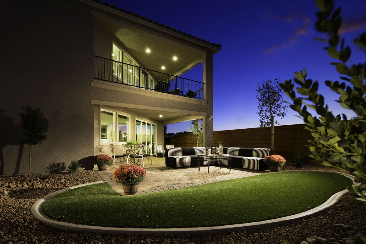 A second-floor balcony and outdoor living space modeled at KB Home's Treviso Estates community in Las Vegas. (Photo: Business Wire)