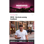 Indiegogo App Home Feed (Graphic: Business Wire)