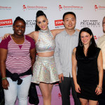 "Global pop star Katy Perry, center, with local teachers, students and CEO and Chairman, Staples, left to right, Tajia Reverdes, Janile Campbell, Yu Chen, Amanda Robb and Ronald Sargent backstage at the TD Garden during her Prismatic World Tour performance on Fri., Aug 1 in Boston, Mass. Staples teamed up with superstar Katy Perry to ""Make Roar Happen"" and support teachers during the back-to-school season by donating $1 million to DonorsChoose.org, a charity that has helped fund more than 450,000 classroom projects for teachers and impacted more than 11 million students. (Photo by Marc Andrew Deley/Invision for Staples/AP Images)"
