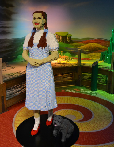 Life-size Dorothy and Toto LEGO(R) Models at LEGOLAND(R) Discovery Center Kansas City (Photo: Business Wire)