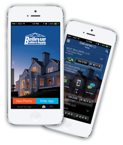 The Bellevue Mobil App features tools that are just as important as your tape measure. (Photo: Business Wire)