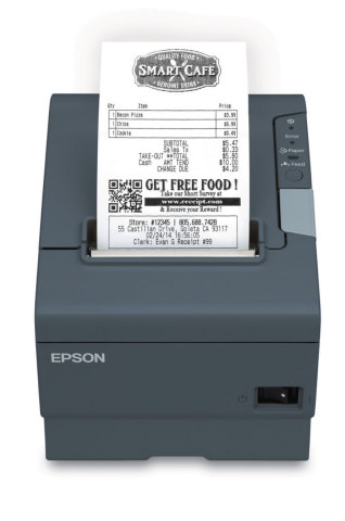 Epson OmniLink TM-T88V-i with SmartReceipt (Photo: Business Wire)