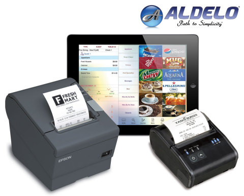 Aldelo Touch with Epson mPOS-Friendly TM-T88V (Photo: Business Wire)