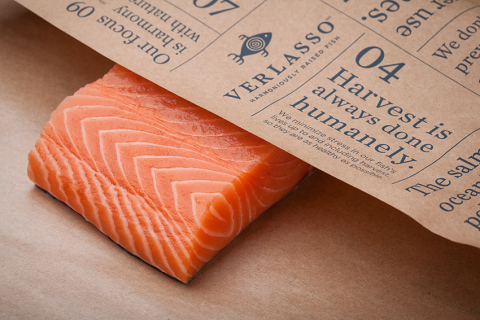 Verlasso harmoniously raised fish is now available at 15 stores near Salt Lake City (Photo: Business Wire)