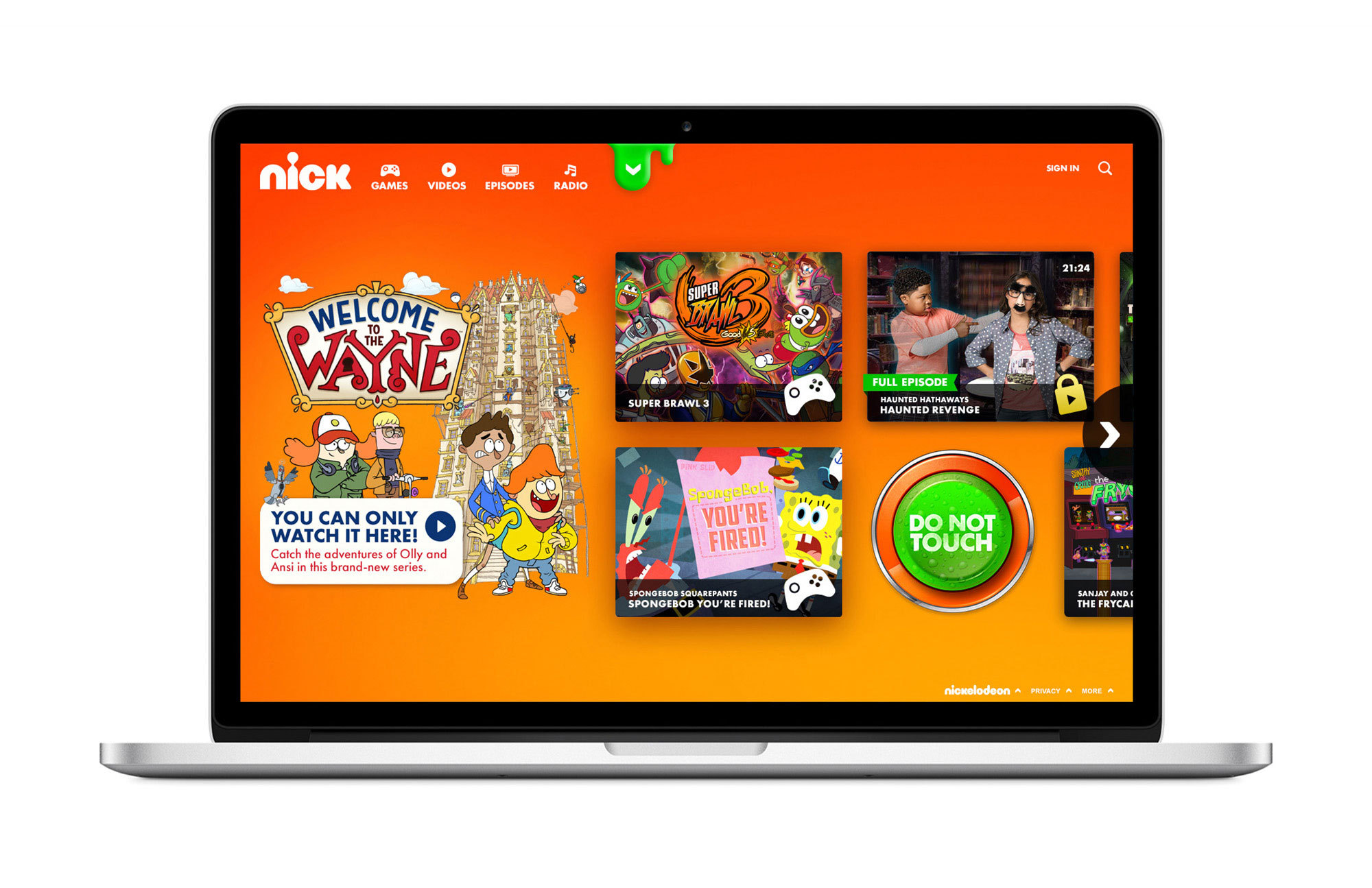 Nickelodeon's new Nick.com live today (Graphic: Business Wire)