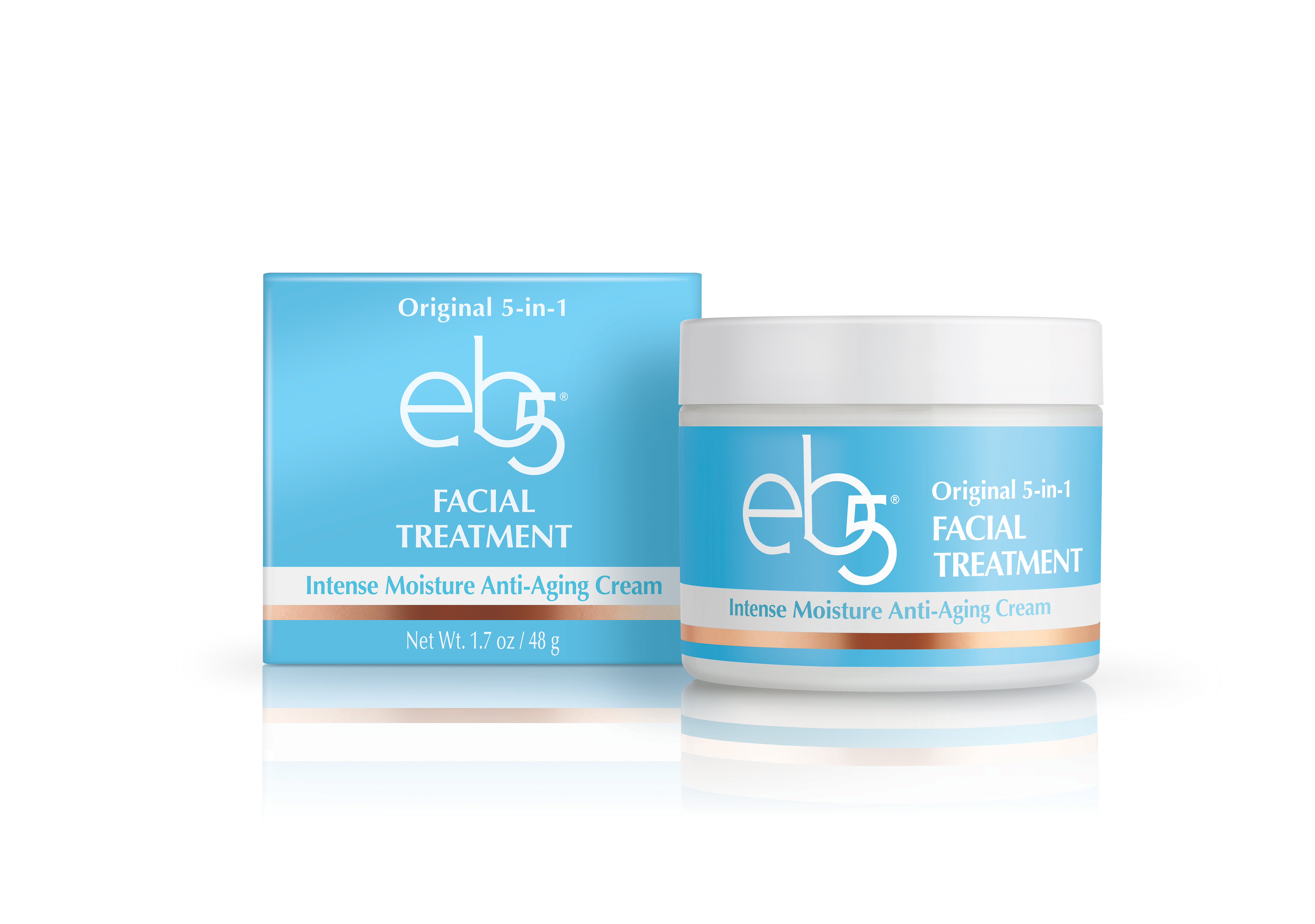 eb5 - Original 5-in-1 Facial Treatment Intense Moisture Anti-Aging Cream - New Formula & New Packaging (Photo: Business Wire)