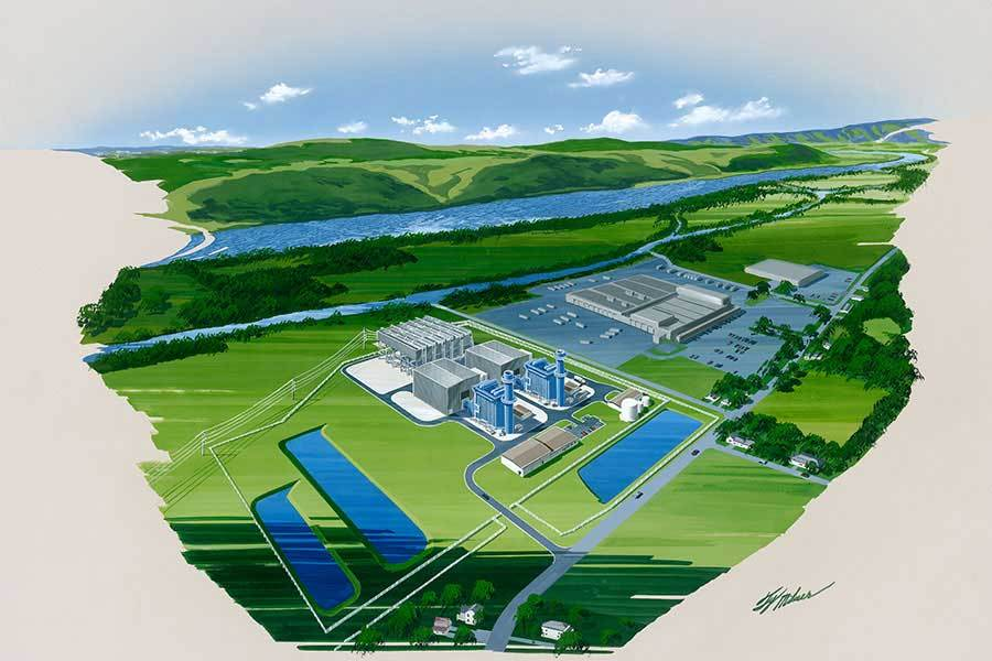 "The 829-MW ""Patriot"" Generating Station (Lycoming County, Pa.) (Graphic: Business Wire)"