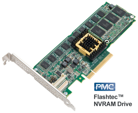 PMC Flashtec NVRAM Drive family achieves 10 million IOPS, establishing a new storage class memory tier for hyperscale data centers and enterprise storage (Photo: Business Wire)