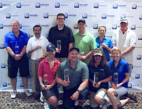 Mouser Electronics congratulates and honors its 2014 Best-in-Class Recipients. Pictured from left to ...