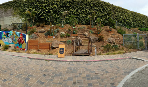 How Burrows Street in the Portola neighborhood of San Francisco looks after its transformation into a pocket park. The Lincoln Motor Company, through The Lincoln Reimagine Project(TM) and in collaboration with Architectural Digest and Architecture for Humanity, aided the transformation. (Photo credit: Architecture for Humanity)