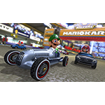 An Aug. 27 game update to Mario Kart 8 for the Wii U console will deliver a variety of new features for players, including the ability in-game to download three free Mercedes-Benz cars that players can race: the modern Mercedes-Benz GLA, the 300 SL Roadster from the 1950s and the legendary Silver Arrow of the 1930s. (Photo: Business Wire)