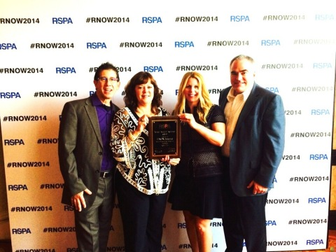 Epson Wins the Gold Award in the Hardware Technology Category at RSPA RetailNOW 2014 (Photo: Busines ...