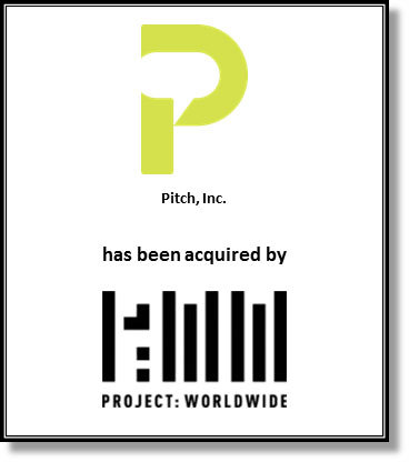 Pitch, Inc. Tombstone (Graphic: Business Wire)