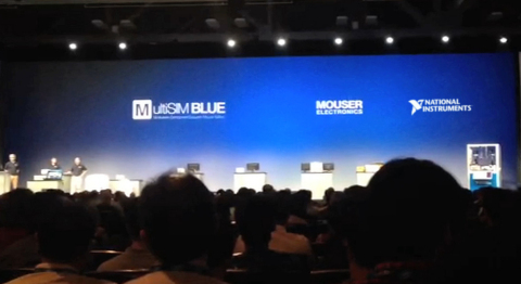 Mouser Electronics' upcoming free MultiSIM BLUE design tool is highlighted in today's keynote address at NIWeek, presented by National Instruments. (Photo: Business Wire)