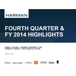 HARMAN 4Q and Year End FY2014 Supporting Slide Deck