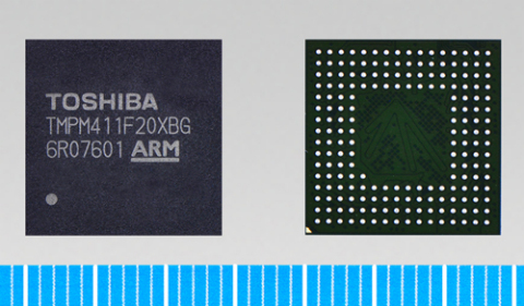 "Toshiba: One-chip microcontroller ""TMPM411F20XBG"" for smart meters (Photo: Business Wire)"