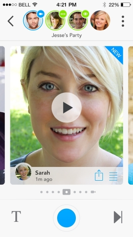 Glide, the world's first and only instant video messenger, makes communication much faster and simpler than sending a video message as an attachment, and more convenient than video calling. (Photo: Business Wire)