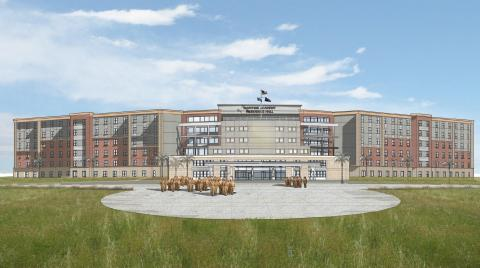 Rendering of the future Texas A&M at Galveston Residence Hall (Photo: Business Wire)