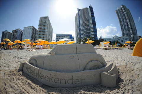 Sand sculptures were created to celebrate National Play in the Sand Day on Monday, Aug 11, 2014 at Hilton Cabana Miami Beach, in Miami Beach, Florida. (Photo by Jeff Daly/Invision for Hilton Worldwide/AP Images). Hilton is inspiring travelers to Be A Weekender and book at HiltonWeekends.com