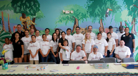 Southern VolunCheers at Children's Home Society of Florida Back-to-School event in Miami-Dade county ...