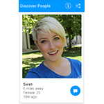 "The newest version of Glide's video texting app for Android includes a new ""Discover People"" social discovery feature, which lets Glide users video message with interesting new people based on location, demographics or recent activity. (Photo: Business Wire)"