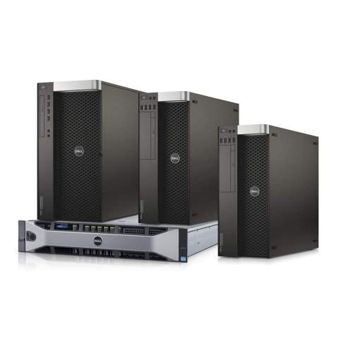 New Dell Precision tower and rack workstations: Tower 5810, Tower 7810, Tower 7910, Rack 7910 (Photo: Business Wire)